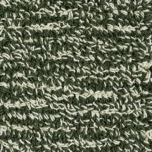 【写真】ラグ Fioriウールツイスト10 正方形200×200cm グリーン