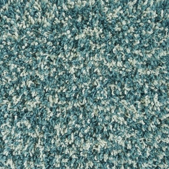 【写真】ラグ Fioriウールツイスト15 正方形200×200cm ライトブルー