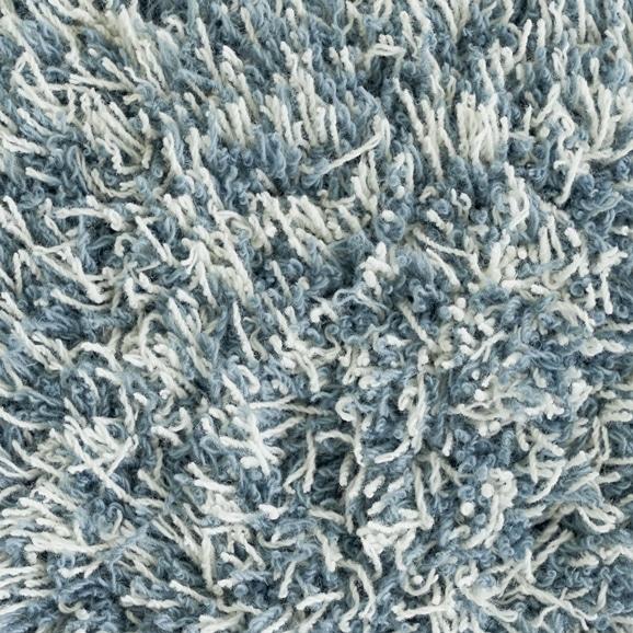【写真】ラグ Fioriウールツイスト40 長方形150×200cm ライトブルー