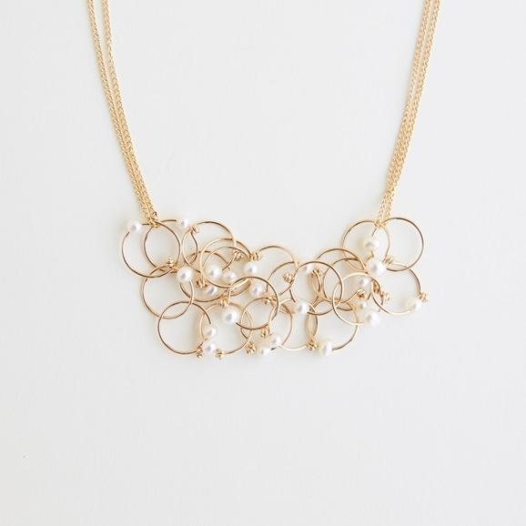 【写真】asumi bijoux petal necklace