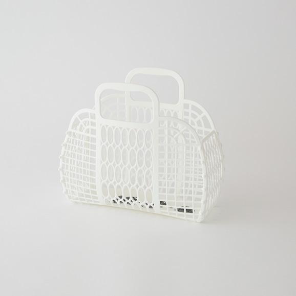 【写真】PUEBCO プラスチック マーケットバッグ S ホワイト