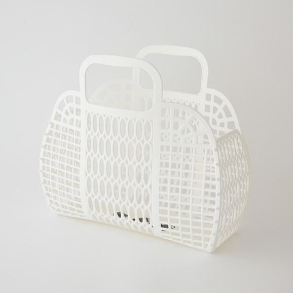 【写真】PUEBCO プラスチック マーケットバッグ L ホワイト