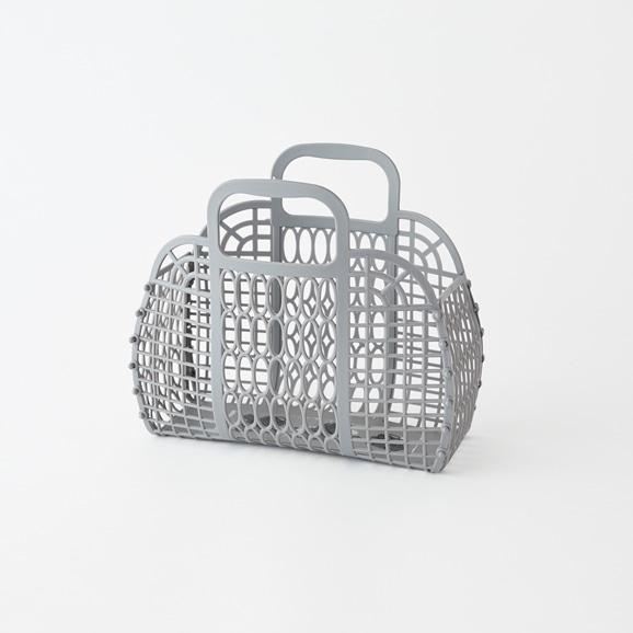 【写真】PUEBCO プラスチック マーケットバッグ S グレー