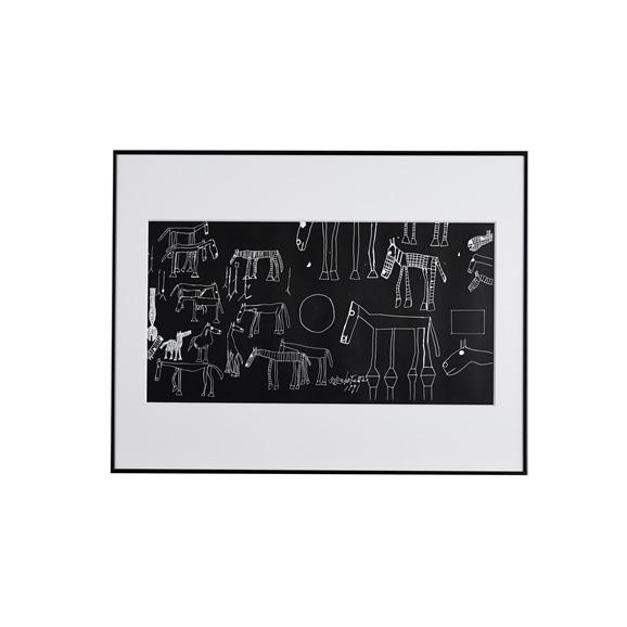 【写真】猪熊弦一郎 「Horse Black」/Rare ART POSTER展 feat. NIPPON