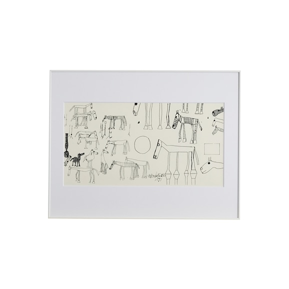 【写真】猪熊弦一郎 「Horse White」/Rare ART POSTER展 feat. NIPPON