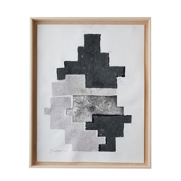 【写真】【一点物】望月佐知子「grid sheet work no.2」
