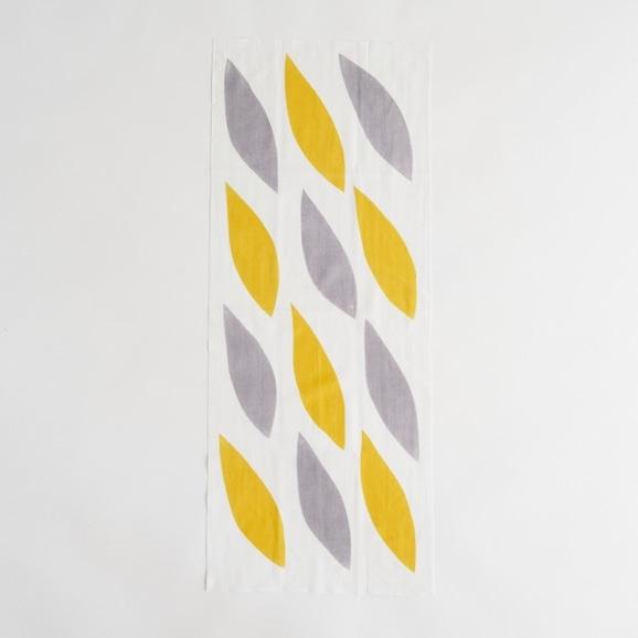【写真】【IDEE TOKYO限定】柚木沙弥郎デザイン IDEE Daily Cloth リーフ イエロー&グレー