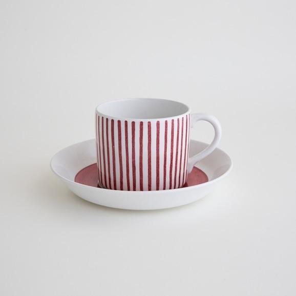 【写真】北欧ヴィンテージ食器 RORSTRAND RED STRIPE COFFEE CUP & SAUCER
