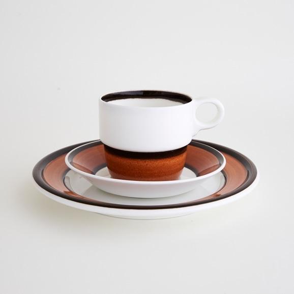 【写真】北欧ヴィンテージ食器 GUSTAVSBERG ILINDA COFFEE CUP & SAUCER & PLATE S