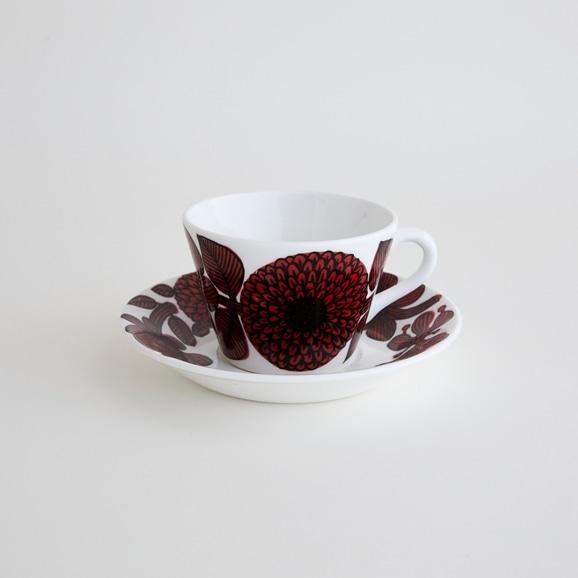 【写真】北欧ヴィンテージ食器 GUSTAVSBERG ROD ASTER COFFEE CUP & SAUCER