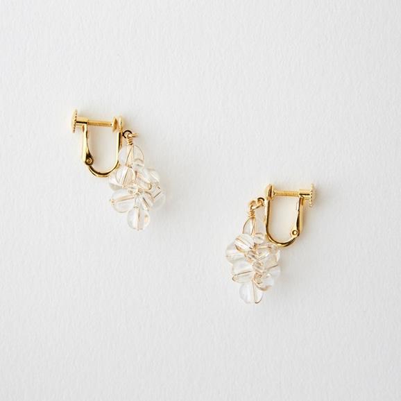【写真】asumi bijoux asatsuyu tubu earring crystal
