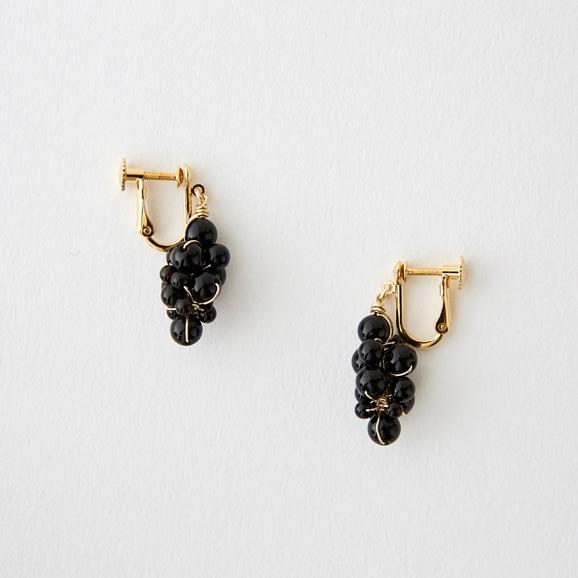 【写真】asumi bijoux asatsuyu tubu earring onyx