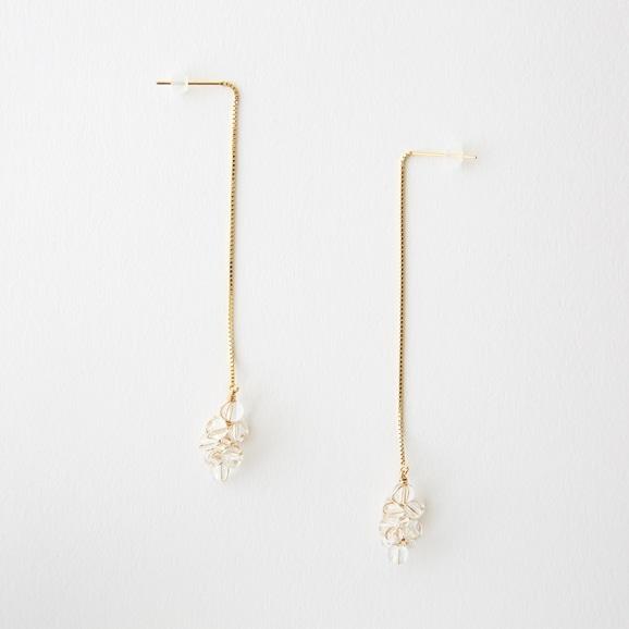 【写真】asumi bijoux asatsuyu chain pierce crystal