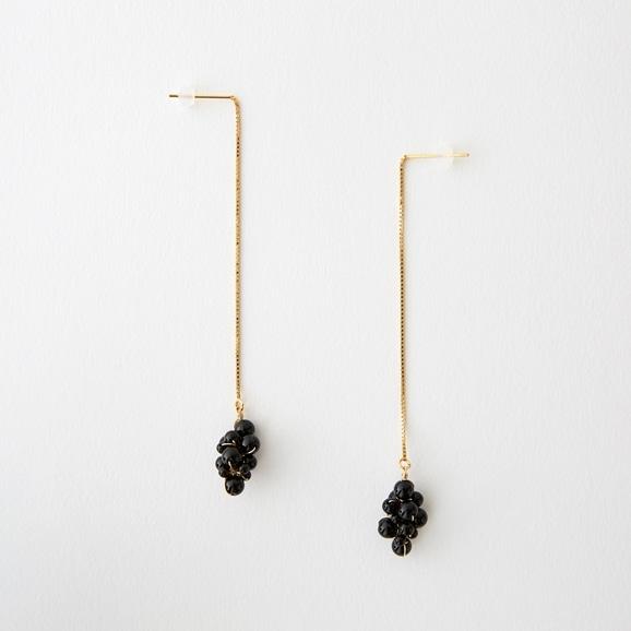 【写真】asumi bijoux asatsuyu chain pierce onyx