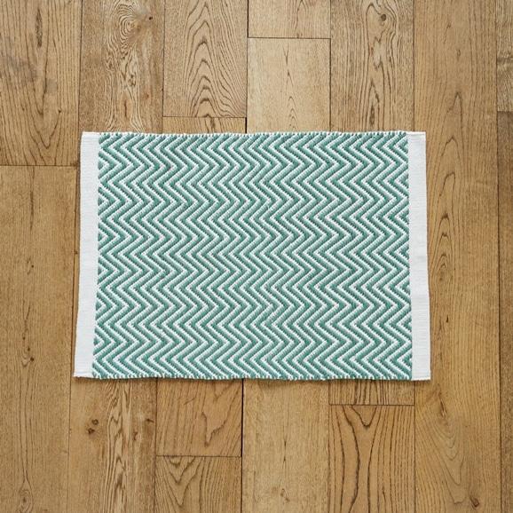 【写真】Classical Handmade Products ヘリンボーンラグ 45×60 グリーン