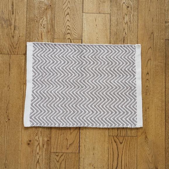 【写真】Classical Handmade Products ヘリンボーンラグ 45×60 グレー