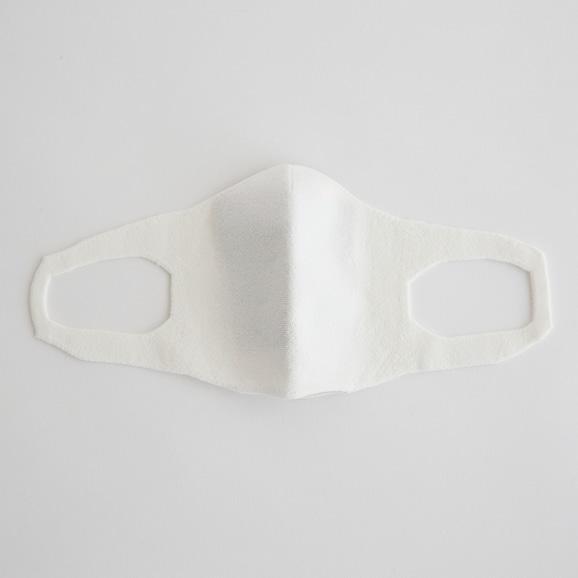 【写真】抗菌 洗える和紙ニットマスク ホワイト