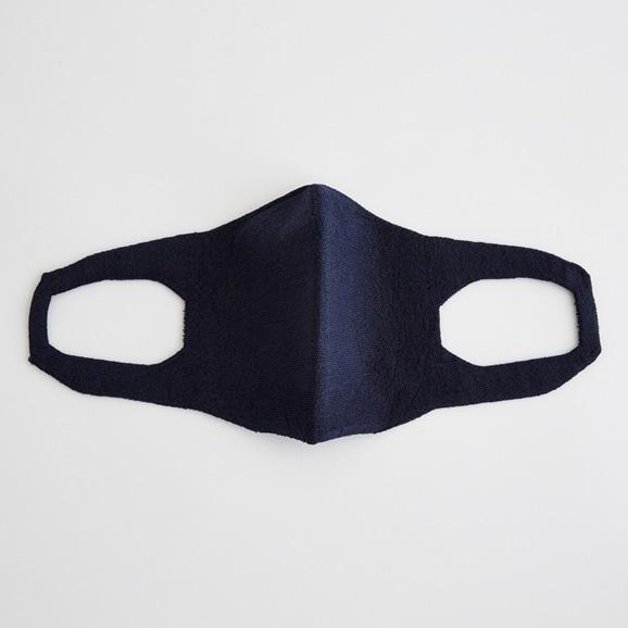 【写真】抗菌 洗える和紙ニットマスク ネイビー