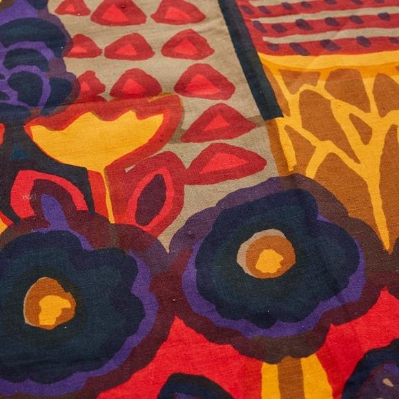 """【写真】北欧ヴィンテージテキスタイル Marimekko Katsuji Wakisaka """"Eve"""" 1972 multicolor"""