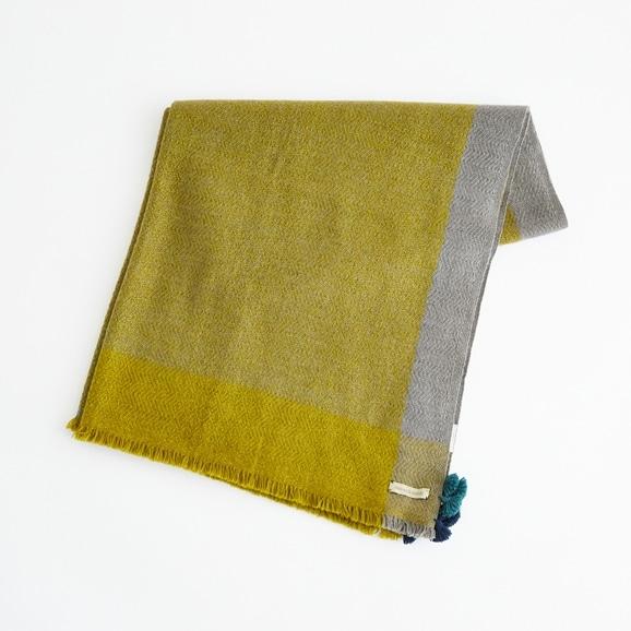 【写真】Weaves&Blends ブランケット 80×130 ヘリンボーン