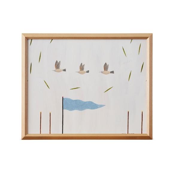 【写真】【一点物】秋山花 「THE 3 BIRDS AND A FLAG」