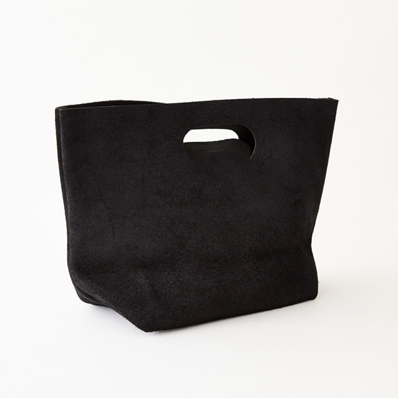 【写真】Hender Scheme not eco bag wide スウェード ブラック
