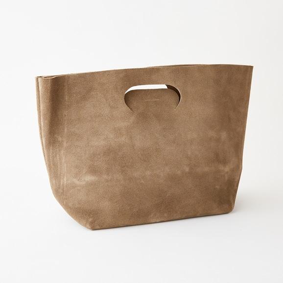 【写真】Hender Scheme not eco bag wide スウェード カーキベージュ