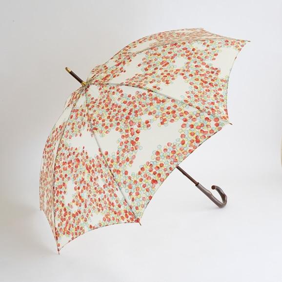 【写真】イイダ傘店 晴雨兼用傘 こもれび 紅葉 60cm