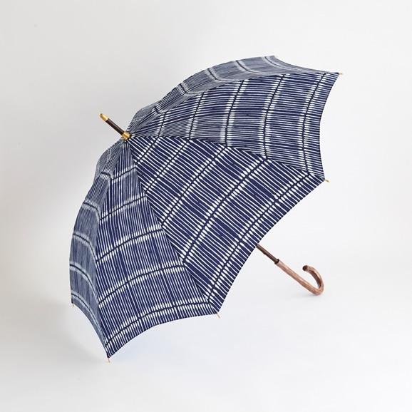 【写真】イイダ傘店 晴雨兼用傘 綿棒 ネイビー 55cm