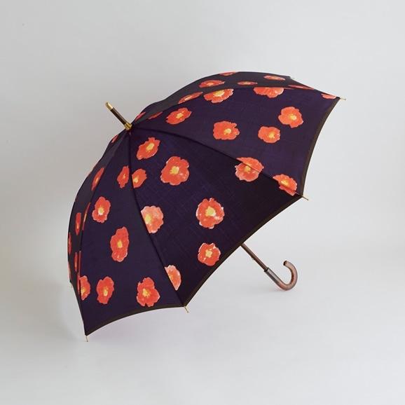 【写真】イイダ傘店 雨傘 椿 ムラサキ 55cm