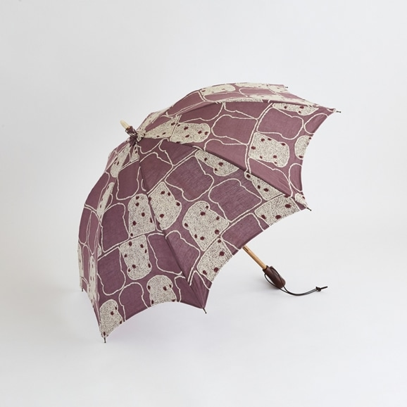 【写真】イイダ傘店 日傘 ぶどうパン ムラサキ 47cm