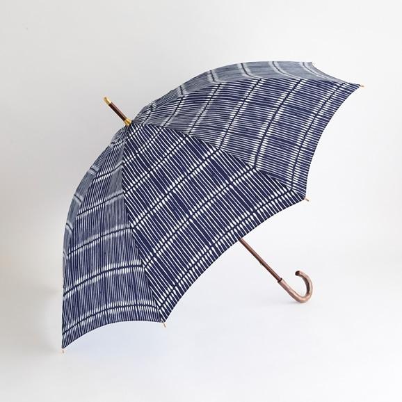 【写真】イイダ傘店 晴雨兼用傘 綿棒 ネイビー 60cm