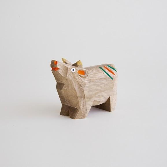 【写真】【丑の郷土玩具】木彫りの牛 小