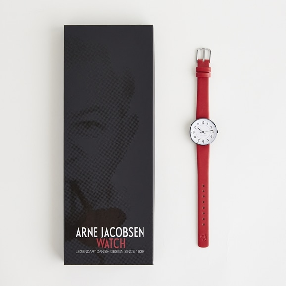 【写真】Arne Jacobsen 腕時計 STATION φ30mm レッド