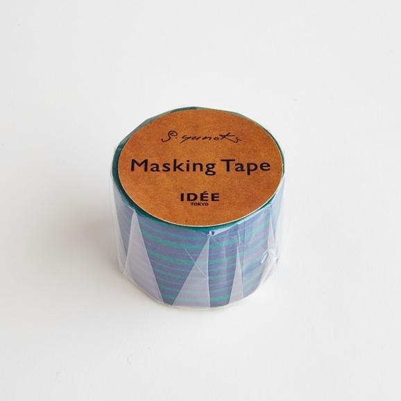 【写真】【IDEE TOKYO限定】柚木沙弥郎デザイン IDEE マスキングテープ ライン グリーンブルー 30mm