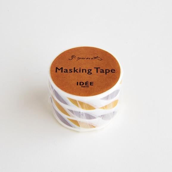 【写真】【IDEE TOKYO限定】柚木沙弥郎デザイン IDEE マスキングテープ リーフ グレーイエロー 30mm