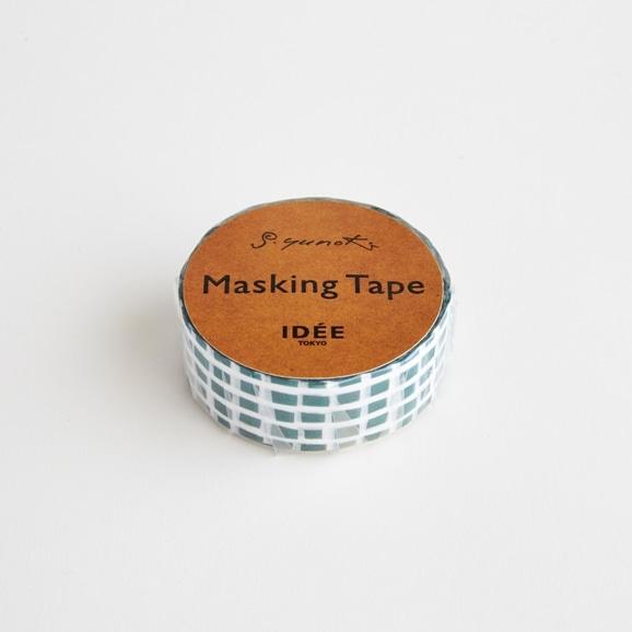 【写真】【IDEE TOKYO限定】柚木沙弥郎デザイン IDEE マスキングテープ キューブ グリーン 15mm