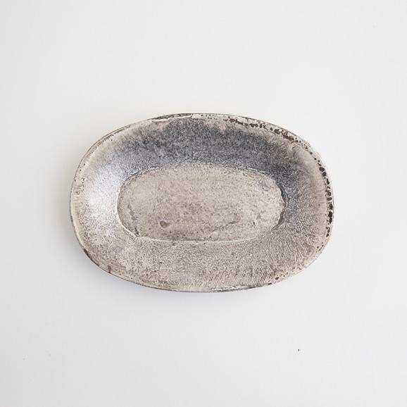 【写真】十場あすか 銀彩わっぱ楕円皿 B