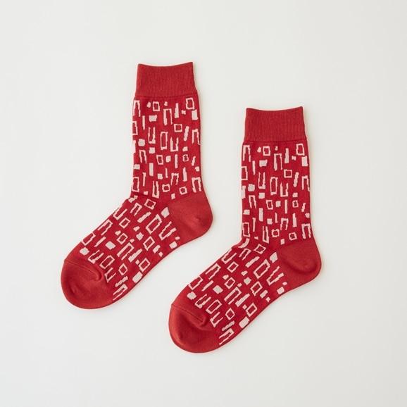 【写真】【IDEE TOKYO限定】柚木沙弥郎デザイン IDEE Daily Socks ブロック M