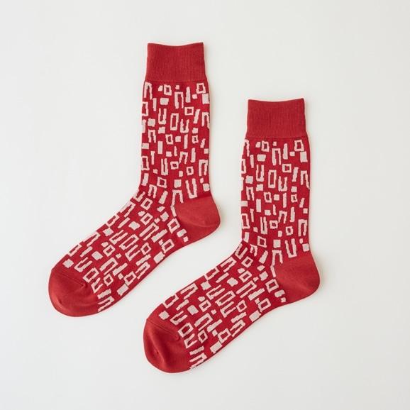 【写真】【IDEE TOKYO限定】柚木沙弥郎デザイン IDEE Daily Socks ブロック L