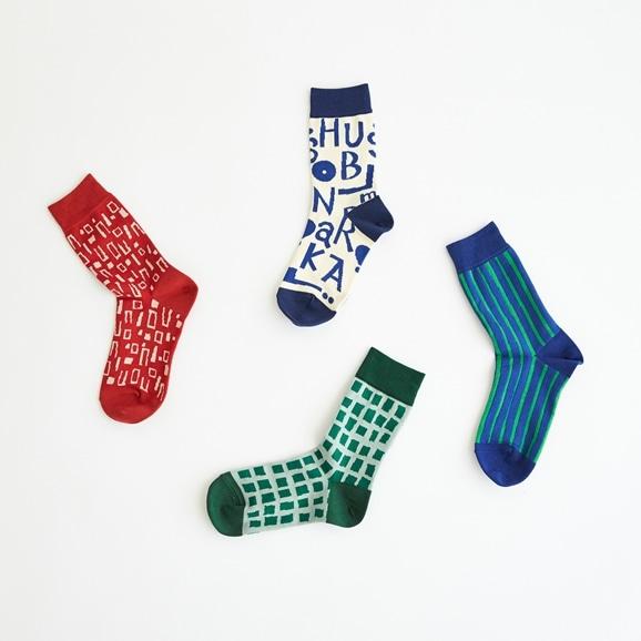 【写真】【IDEE TOKYO限定】柚木沙弥郎デザイン IDEE Daily Socks キューブ  M