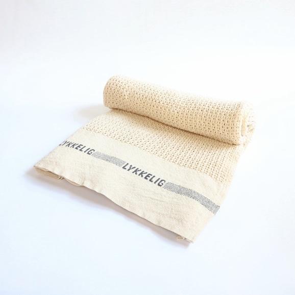 【写真】【IDEE限定】Barker Textile コットンブランケット LYKKELIG ナチュラル