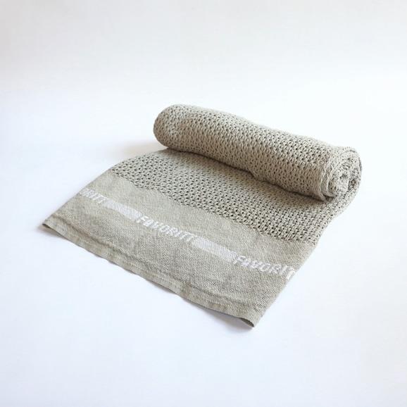 【写真】【IDEE限定】Barker Textile コットンブランケット FAVORITT ライトグレー