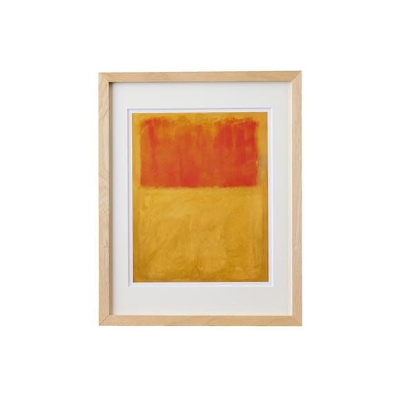 【写真】【定番品】マーク・ロスコ 「Orange and Tan,1954」