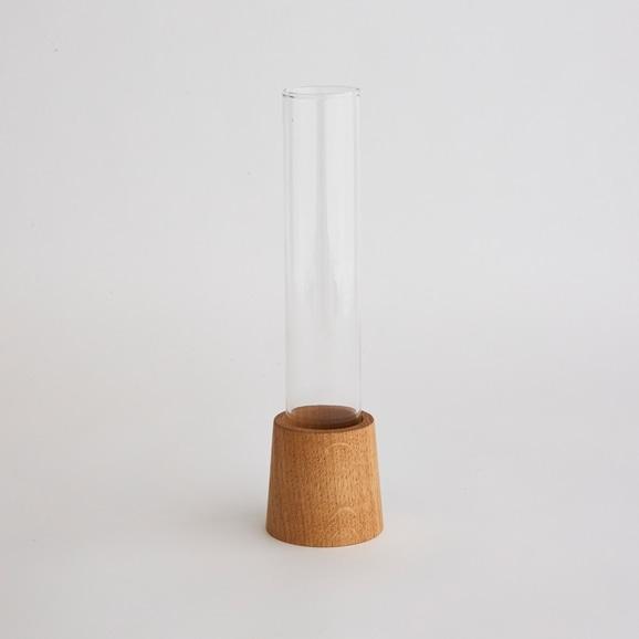 【写真】リユースガラス フラワーベース シランドル WOOD STAND L