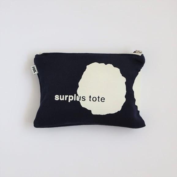 【写真】POOL surplus tote ポーチ ネイビー×ホワイト