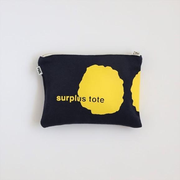 【写真】POOL surplus tote ポーチ ネイビー×イエロー