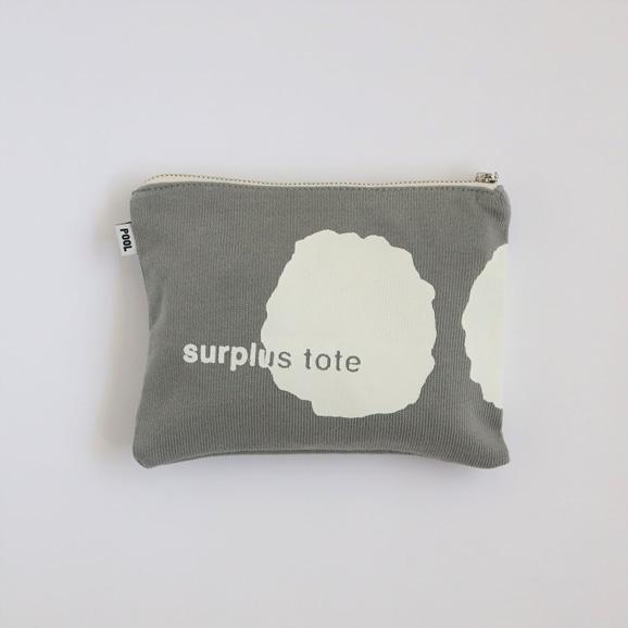 【写真】POOL surplus tote ポーチ グレー×ホワイト