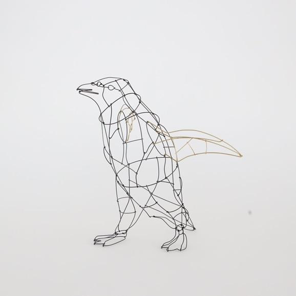 【写真】【一点物】山田一成 「お散歩ペンギン (歩きポーズ)」