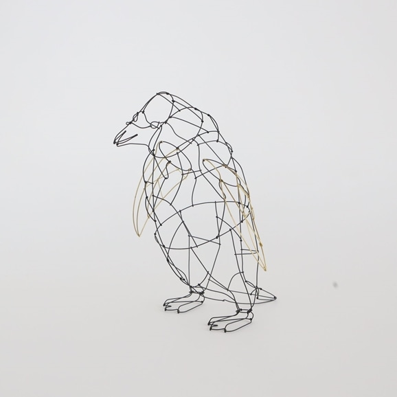 【写真】【一点物】山田一成 「お散歩ペンギン (立ちポーズ)」